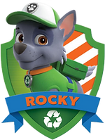 Paw Patrol Rocky with Name Clipart png