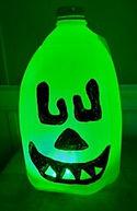Halloween Milk Jug Monster