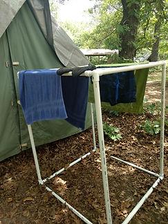 PVC Towel Rack Scouts Camping