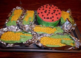 Corn on the Cob Cupcakes Watermelon Cake