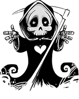 Grim Reaper Skeleton FREE SVG and PNG