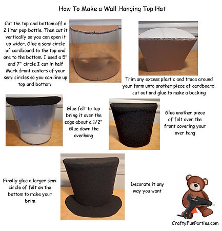 Wall Hanging Top Hat Instructions