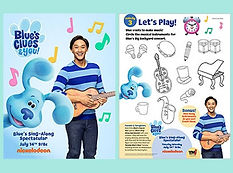 Blues Clues Sing Along Activities