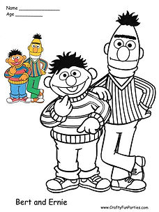 Color Bert and Ernie