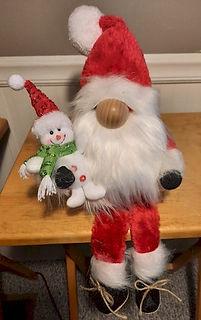 Santa Gnome With Snowman