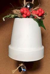 Bell Clay Pot Ornament