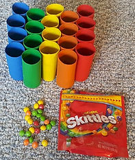 Skittles Toss Toilet Paper Roll Craft Game