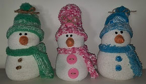 Snowmen Pastel No Sew