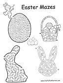 Easter Mazes Printable