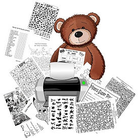 Printables Page Bear