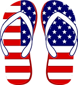 FREE USA Flip Flops SVG and PNG