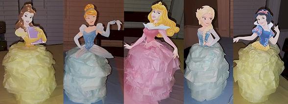 Pop Bottle Disney Princesses Craft
