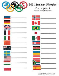 Olympic Countries Flags Printable Quiz