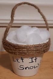 Bucket Of Snowballs Ornament