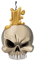 Skull Candle Clipart