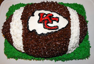 KC Chiefs Football Cake
