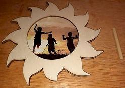 Sun Picture Frame craft Dollar Tree