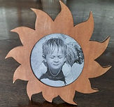 Sun Picture Frame Stained