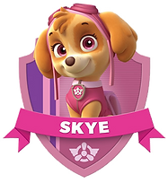 Paw Patrol Skye Clipart with Name png