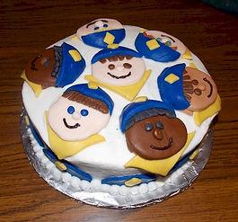 Fondant Boy Scouts Cake