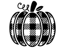 Buffalo Plaid Pumpkin FREE SVG