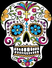 Sugar Skull Clipart Day of the Dead