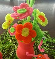 Neon Daisies and Chameleon iguana geeko