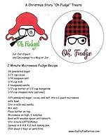 A Christmas Story Oh Fudge Treat Printable