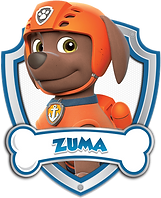 Paw Patrol Zuma with Name png