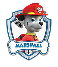 Paw Patrol Marshall with Name Clipart png