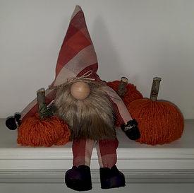 Fall Gnome Orange and Rust