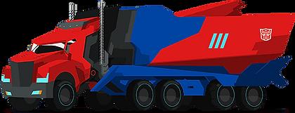 Optimus Prime Truck Clipart png