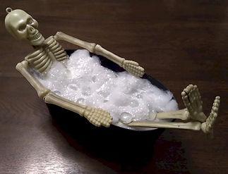 Skeleton Bubble Bath Craft