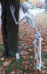 Halloween Drunk Skeleton