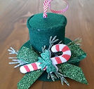 Top Hat Candy Cane Ornament