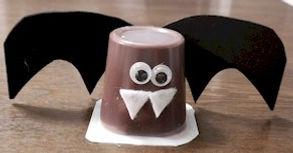 Halloween Bat Pudding Treat
