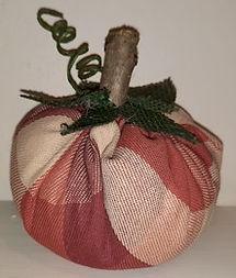Plaid Fabric Pumpkin