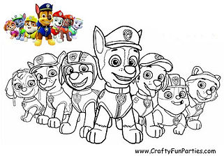 Color the Paw Patrol