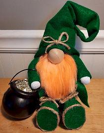 St Patricks Gnome Green Felt Sitting