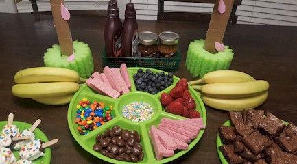 Ice Cream Social Toppings Buffet