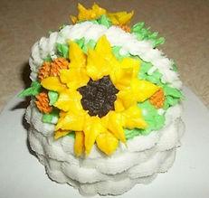 Sunflower Basket Cake