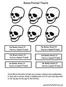 Bones Pretzel Treats Labels
