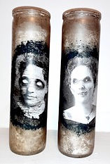 Decoupage Creepy Candles