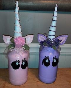 Unicorn Jars Pink Purple