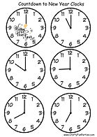 Countdown to New Year Printable