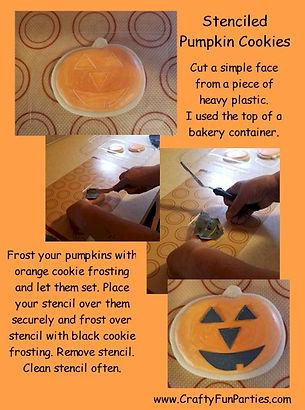 Stenciled Pumpkin Cookies