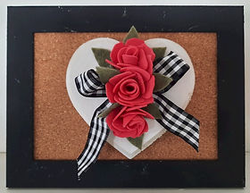 3D Heart Picture Red Roses