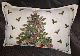 Christmas Tree Tapestry Pillow