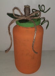 Glass Jar Pumpkin
