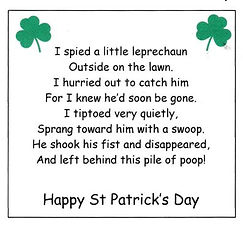 Leprechaun Poop Poem